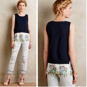 Moth x Anthropologie Layered Sweater Lace Tank S